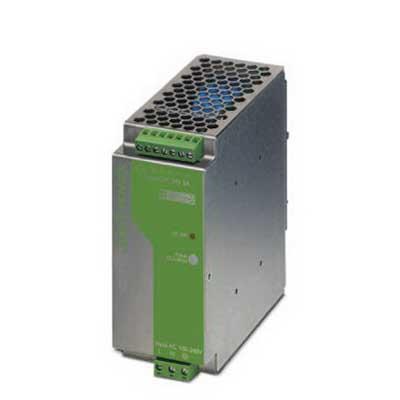 Phoenix 2938581 QUINT-PS-100-240AC/24DC/ 5 Power Supply Unit; 5/7.5 Amp, 24 Volt DC Output, 1 Phase, 120 Watt, Horizontal and NS 35 DIN Rail Mount