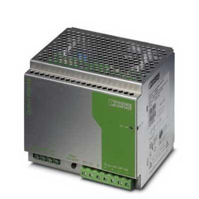 Phoenix Contact Phoenix 2938727 QUINT-PS-3X400-500AC/24DC/20 Power Supply Unit; 20/27 Amp, 24 Volt DC Output, 3 Phase, 480 Watt, Horizontal and NS 35 DIN Rail Mount