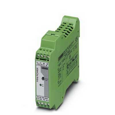 Phoenix Contact Phoenix 2938714 MINI-PS-100-240AC/ 5DC/3 Power Supply Unit; 3/5 Amp, 5 Volt DC Output, 1 Phase, 15 Watt, Horizontal and NS 35 DIN Rail Mount
