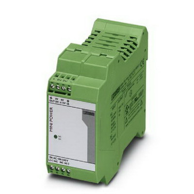 Phoenix Contact Phoenix 2938743 MINI-PS-100-240AC/2X15DC/1 Power Supply Unit; 2 x 1/1.5 Amp, 15 Volt DC Output, 1 Phase, 15 Watt, Horizontal and NS 35 DIN Rail Mount