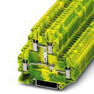 Phoenix Contact Phoenix 3044759 Ground Modular Terminal Block; M3 Screw Connection, NS 35/7.5, NS 35/15 DIN Rail Mount, Polyamide, Green/Yellow
