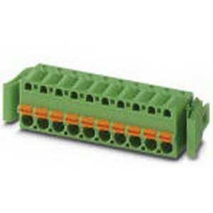 Phoenix 1925702 PR3-BSC1/3X21 Printed-Circuit Board Connector; 12 Amp, 250/320/630 Volt, Spring-Cage Connection, 3 Position, Polyamide, Green