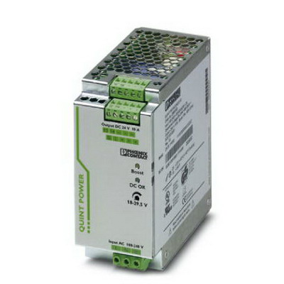 Phoenix Contact Phoenix 2866763 QUINT-PS/ 1AC/24DC/10 Primary-Switched Mode Power Supply Unit; 10/15/60 Amp, 24 Volt DC Output, 1 Phase, 240 Watt, Horizontal and NS 35 DIN Rail Mount