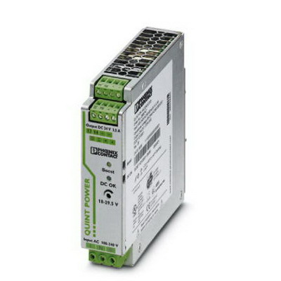Phoenix Contact Phoenix 2866747 QUINT-PS/ 1AC/24DC/ 3.5 Power Supply Unit; 3.5/4/15 Amp, 24 Volt DC Output, 1 Phase, 84 Watt, Horizontal and NS 35 DIN Rail Mount