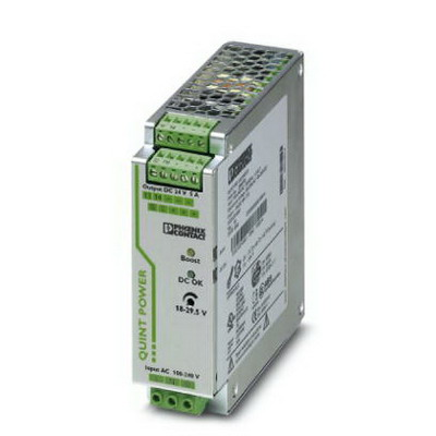 """""Phoenix Contact Phoenix 2866750 QUINT-PS/ 1AC/24DC/ 5 Power Supply Unit 5/7.5/30 Amp, 24 Volt DC Output, 1 Phase, 120 Watt, Horizontal and NS 35 DIN Rail Mount,"""""" 296237"