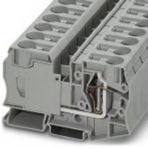 Phoenix 3036178 PLC-BSC- 24DC/21 Feed-Thru Terminal Block; 125 Amp, 1000 Volt, Spring-Cage Connection, NS 35/7.5, NS 35/15 DIN Rail Mount, Polyamide, Gray