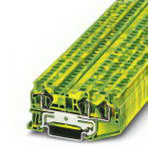 Phoenix Contact Phoenix 3031416 P7S-14F-END DC24 Ground Modular Terminal Block; Spring-Cage Connection, NS 35/7.5, NS 35/15 DIN Rail Mount, Polyamide, Green/Yellow