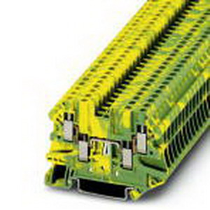 Phoenix Contact Phoenix 3044568 PLC-BSC- 24DC/21HC Ground Modular Terminal Block; M3 Screw Connection, NS 35/7.5, NS 35/15 DIN Rail Mount, Polyamide, Green/Yellow