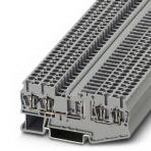 Phoenix Contact Phoenix 3038451 Disconnect Terminal Block; 20 Amp, 400 Volt, Spring-Cage Connection, NS 35/7.5, NS 35/15 DIN Rail Mount, Polyamide, Gray