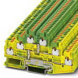 Phoenix Contact Phoenix 3210525 PLC-OPT- 24DC/ 48DC/100/SEN Ground Modular Terminal Block; Push-In Connection, NS 35/7.5, NS 35/15 DIN Rail Mount, Polyamide, Green/Yellow