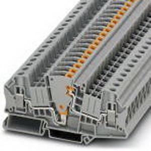 Phoenix Contact Phoenix 3047400 Test Disconnect Terminal Block; 30 Amp, 500 Volt, M4 Screw Connection, NS 35/7.5, NS 35/15 DIN Rail Mount, Polyamide, Gray