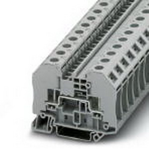 Phoenix Contact Phoenix 3049013 Terminal Block; 24 Amp, 1000 Volt, M3 Bolt Connection, NS 35/7.5, NS 35/15 DIN Rail Mount, Polyamide, Gray