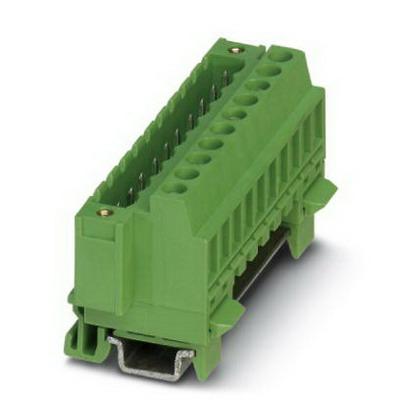 Phoenix Contact Phoenix 1803057 MSTBVK 2.5/12-GF-5.08 Base Strip/Plug Component; 4 Kilo-Volt (Surge), 320 Volt (Rated III/2), 12 Amp, Green, DIN Rail