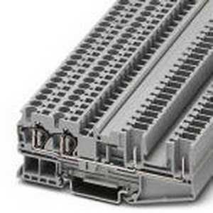 Phoenix Contact Phoenix 3042845 Feed-Thru Terminal Block; 32 Amp, 800 Volt, Spring-Cage/Plug-In Connection, NS 35/7.5, NS 35/15 DIN Rail Mount, Polyamide, Gray