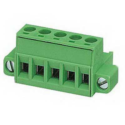 Phoenix Contact Phoenix 1778014 Printed-Circuit Board Connector/Plug Component; 12 Amp, 320 Volt, M3 Screw Connection, 5 Position, Polyamide, Green