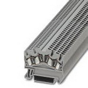 Phoenix 3031746 Feed-Thru Terminal Block; 24 Amp, 800 Volt, Spring-Cage Connection, NS 35/7.5, NS 35/15 DIN Rail Mount, Polyamide, Gray