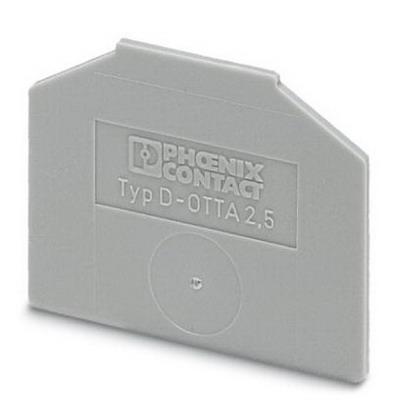 Phoenix 0790514 D-OTTA 25 End Cover; Gray