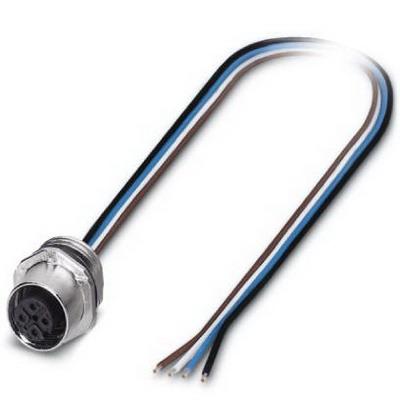 Phoenix Contact Phoenix 1523434 SACC-E-FS-4CON-M16/0.5 SCO Flush Universal Signal Sensor/Actuator Socket; 0.5 m Cable, 4 Position