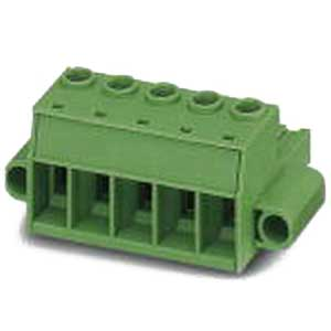 Phoenix Contact Phoenix 1967472 Printed-Circuit Board Connector; 76 Amp, 1000 Volt, M4 Screw Connection, 4 Position, Polyamide, Green