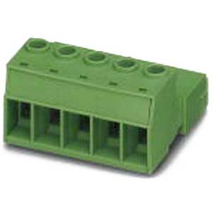 Phoenix Contact Phoenix 1969386 Printed-Circuit Board Connector; 76 Amp, 1000 Volt, M4 Screw Connection, 3 Position, Polyamide, Green