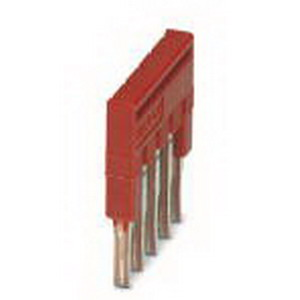 Phoenix 3213043 FBS 5-3.5 Plug-In Bridge; 5 Position, Red