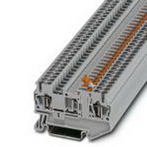 Phoenix Contact Phoenix 3036343 Knife Disconnect Terminal Block; 20 Amp, 400 Volt, Spring-Cage Connection, NS 35/7.5, NS 35/15 DIN Rail Mount, Polyamide, Gray