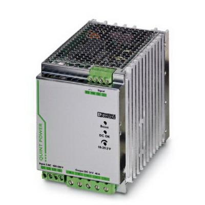 Phoenix Contact Phoenix 2866802 QUINT-PS/ 3AC/24DC/40 Power Supply Unit; 40/45/215 Amp, 24 Volt DC Output, 3 Phase, Horizontal and NS 35 DIN Rail Mount