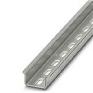 Phoenix 1201730-X-2.0M Perforated DIN Mounting Rail; 2000 mm Length, Steel