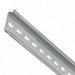 Phoenix 0801733-X-2M Non-Slotted Perforated DIN Mounting Rail; 2000 mm Length, Steel