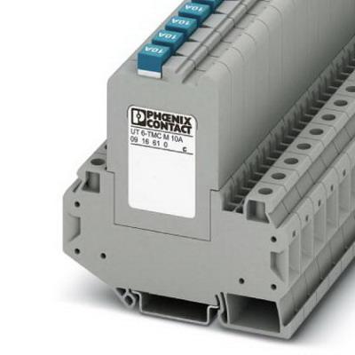 Phoenix Contact Phoenix 0916604 UT6-TMC Circuit Breaker; 1 Amp, 50 - 264 Volt AC, 5 - 30.8 Volt DC, 240/28 Volt AC/DC, 35 mm DIN Rail Mount