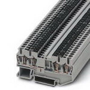 Phoenix Contact Phoenix 3031636 Feed-Thru Terminal Block; 22 Amp, 800 Volt, Spring-Cage Connection, NS 35/7.5, NS 35/15 DIN Rail Mount, Polyamide, Gray
