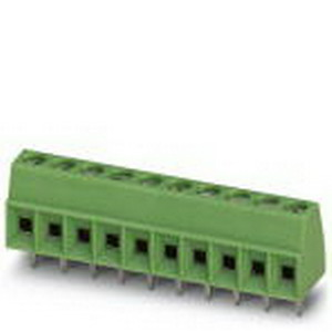 Phoenix Contact Phoenix 1751316 Printed-Circuit Board Terminal Block; 13.5 Amp, 160/200/400 Volt, M2 Screw Connection, 9 Position,Soldering Mount, Polyamide, Green