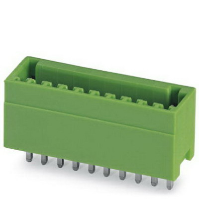 Phoenix 1881561 MCV 0.5/ 3-G-2.5 Terminal Base Strip; 2.5 Kilo-Volt (Surge), 160 Volt (Rated III/2), 4 Amp, Green, Plug-In