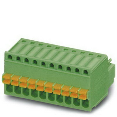 Phoenix Contact Phoenix 1881383 Printed-Circuit Board Connector/Plug Component; 4 Amp, 160 Volt, Spring-Cage Connection, 8 Position,Soldering Mount, Polyamide, Green