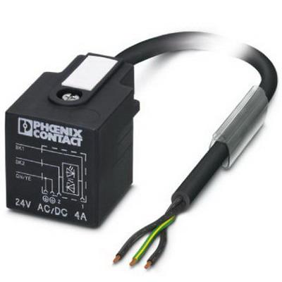 Phoenix Contact Phoenix 1434989 SAC-3P- 1,5-PUR/A-1L-Z Sensor/Actuator Cable; 1.5 m, 3 Position, PUR Halogen-Free, Black-Gray RAL 7021