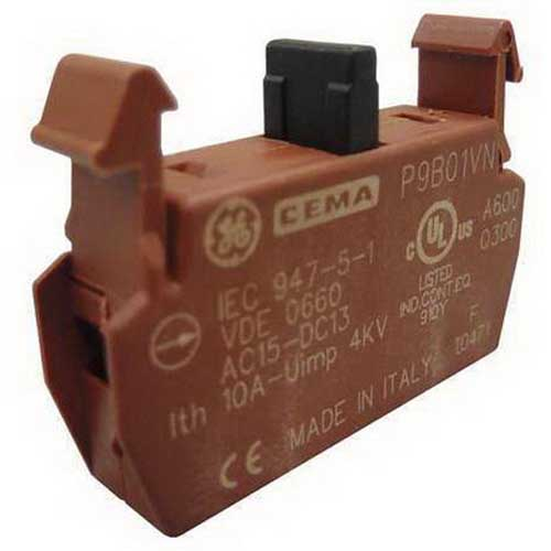 GE Controls P9B01VN Contact Block; Acetal/Polyamide