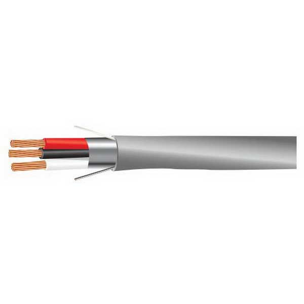 Tappan Wire & Cable 2280AB6M/CMR Security and Sound Cable; 6, 18 AWG 7/0.0096 Stranded, Bare Copper Conductor, PVC Jacket, Chrome Gray