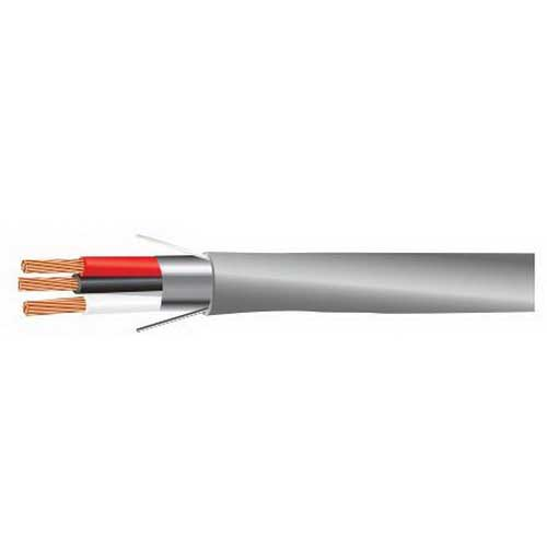 Tappan Wire & Cable 1880AB2M/CMR Security and Sound Cable; 2, 18 AWG 7/0.0152 Stranded, Bare Copper Conductor, 0.156 Inch Nominal Dia x PVC Jacket, Chrome Gray