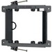 Arlington LVN2 2-Gang Low Voltage Mounting Bracket; 5.492 Inch Width x 1.500 Inch Depth x 4.170 Inch Height, Nail-On Mount, Plastic