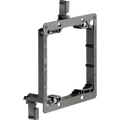 Arlington LV2 2-Gang Low Voltage Mounting Bracket; 4.185 Inch Width x 1.700 Inch Depth x 5.460 Inch Height, Plastic