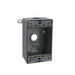 RAB B4W 1-Gang Weatherproof Box; 2-3/4 Inch Width x 2 Inch Depth x 4-3/4 Inch Height, Die-Cast Aluminum, White