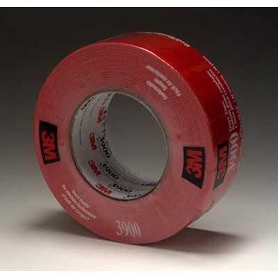 3M 3900-RED Multi-Purpose Duct Tape Roll; Polyethylene Over Cloth Scrim/Rubber Backing, 48 mm x 54.8 m, Red