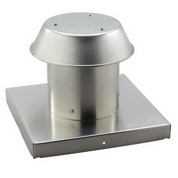 """""Broan Nu-Tone 611CM Roof Cap Aluminum, Natural,"""""" 106455"