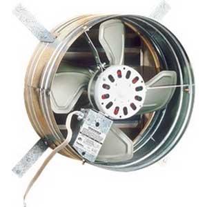 Broan Nu-Tone 353 Powered Attic Ventilator; 120 Volt AC, 3.4 Amp, (4) Steel Blade Fan, 1020/760 cfm, 1030 RPM Shaded Pole Motor, Gable Mount