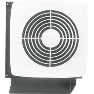 Broan Nu-Tone 508 10 Inch Ventilation Fan; 120 Volt, 1625 RPM, 270 cfm, White, Wall Mount