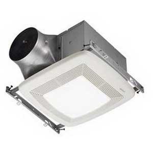 "Broan Nu-Tone ZB80L Ultra Green Bath Ventilation Fan/Light 6 Watt, Heater, 120 Volt, 0.8 Amp, 80 cfm, 0.3 Sones, Ceiling Mount Rectangular Polymeric Grille, White,"""