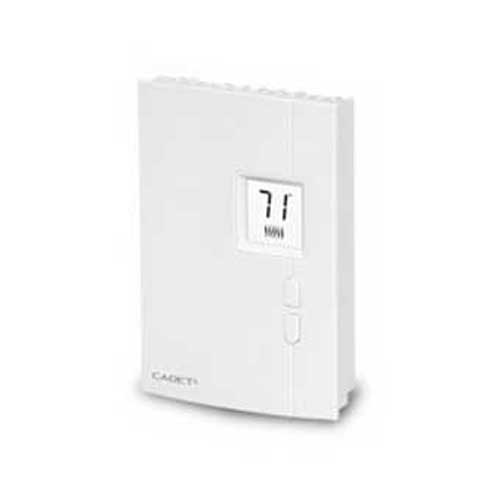 Cadet TH401 Electronic Non-Programmable Thermostat; 120/208/240 Volt AC, 10.4 Amp, 60 Hz, 1-Pole, Wall Mount, White
