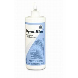 American Polywater D-35 Dyna-Blue® Opaque Cable Pulling Lubricant; 1 qt, Squeeze Bottle, Light-Blue