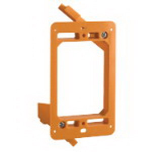 Carlon SC100RR Zip Box® Blue™ 1-Gang Low Voltage Backless Bracket; Orange