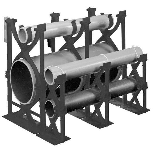 Carlon S289NLN Snap-Loc® Non-Metallic Intermediate Spacer; 4 Inch x 3 Inch, PVC